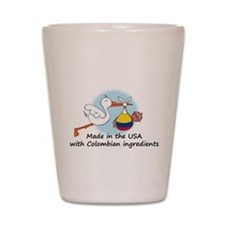 stork baby col 2.psd Shot Glass