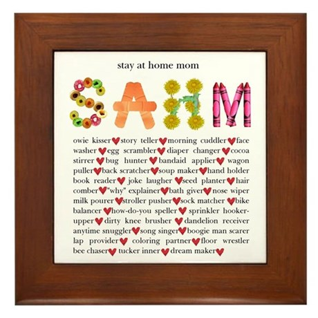 SAHM Framed Tile