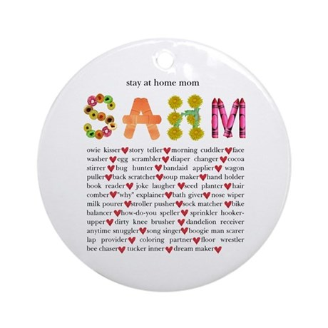 SAHM Ornament (Round)