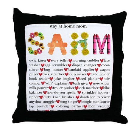 SAHM Throw Pillow
