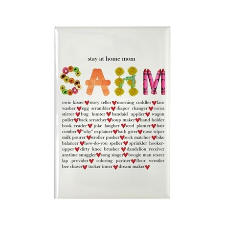 SAHM Rectangle Magnet (10 pack)