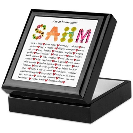 SAHM Keepsake Box