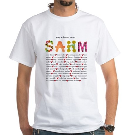 SAHM White T-Shirt