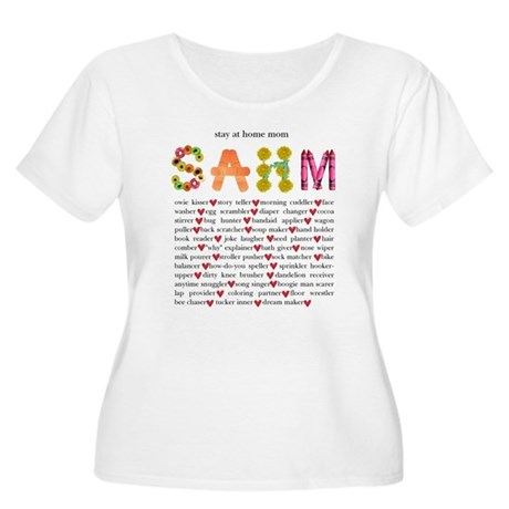 SAHM Women's Plus Size Scoop Neck T-Shirt
