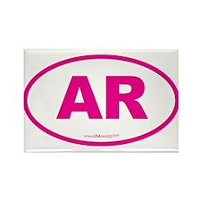 Arkansas AR Euro Oval Rectangle Magnet (100 pack)