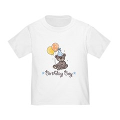 Birthday Boy Party Bear Toddler T-Shirt
