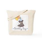 Birthday Boy Party Bear Tote Bag