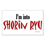 I'm Into Shorin Ryu Rectangle Sticker