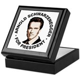 Arnold For President Keepsake Box