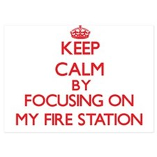 Keep Calm by focusing on My Fire Stati Invitations