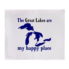 Great Lakes Happy Place Throw Blanket