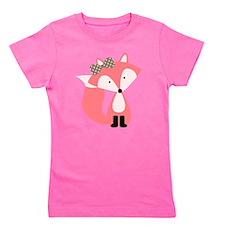 Cute Pink Fox Girl's Tee