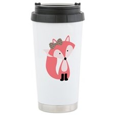 Cute Pink Fox Travel Mug