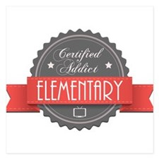 Certified Elementary Addict Invitations