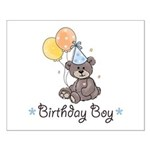 Birthday Boy Party Bear Poster