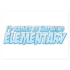 I'd Rather Be Watching Elementary Invitations