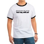 Just tap, will ya! BJJ ringer tee shirt