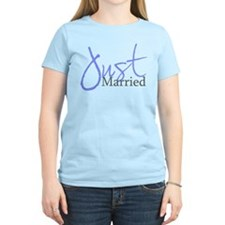 Just Married (Blue Script) T-Shirt