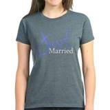 Just Married (Blue Script) Tee