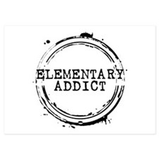 Elementary Addict Stamp Invitations