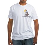 Birthday Boy Party Bear Fitted T-Shirt