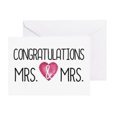 Wedding Congrats Mrs & Greeting Cards
