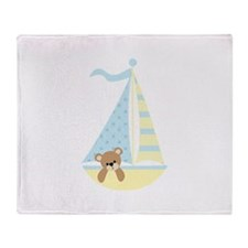 Sailboat Bear Throw Blanket