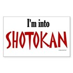 I'm Into Shotokan Rectangle Sticker