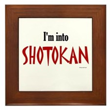 I'm Into Shotokan Framed Tile