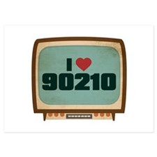 Retro I Heart 90210 Invitations