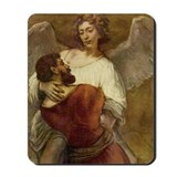 Rembrandt Jacob with Angel Mousepad