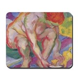 Franz Marc Akt mit Katze Mousepad