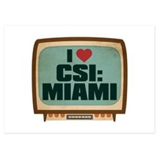 Retro I Heart CSI: Miami Invitations