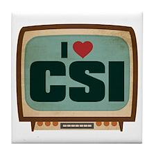 Retro I Heart CSI Tile Coaster