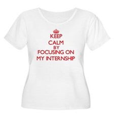 Keep Calm by focusing on My Inte Plus Size T-Shirt