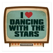 Retro I Heart Dancing With the Stars 5.25 x 5.25 F