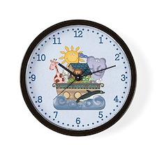 Noah's Ark (blue) Wall Clock