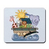 Noah's Ark (blue) Mousepad