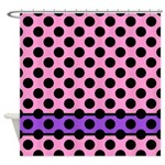 Pink And Purple With Dots Shower Curtain