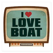 Retro I Heart Love Boat Invitations