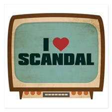 Retro I Heart Scandal Invitations