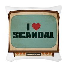 Retro I Heart Scandal Woven Throw Pillow