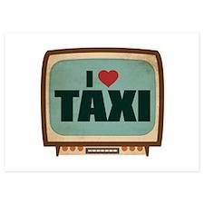 Retro I Heart Taxi Invitations