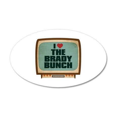 Retro I Heart The Brady Bunch 22x14 Oval Wall Peel