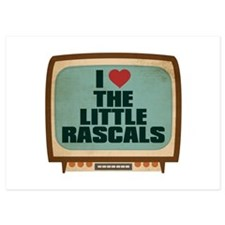 Retro I Heart The Little Rascals Invitations