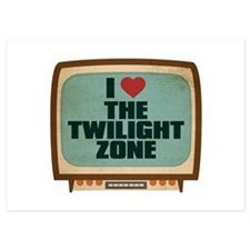 Retro I Heart The Twilight Zone Invitations