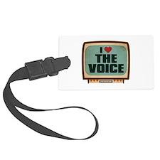 Retro I Heart The Voice Luggage Tag