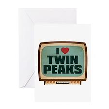 Retro I Heart Twin Peaks Greeting Card