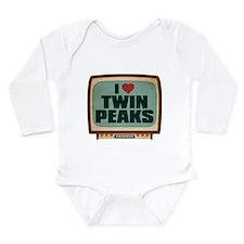 Retro I Heart Twin Peaks Long Sleeve Infant Bodysu