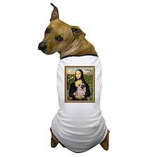 Mona Lisa and Fawn Pug Dog T-Shirt